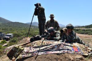 I bersaglieri della Brigata Sassari in addestramento con l'Esercito albanese.