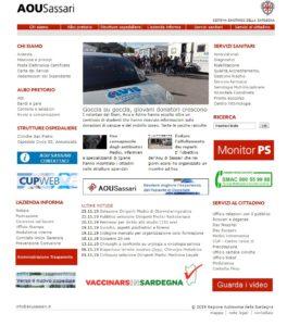 Il sito web dell'Azienda ospedaliero universitaria di Sassari è risultato quello più trasparente tra quelli di tutte le aziende sanitarie della Sardegna.