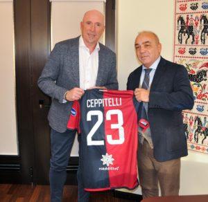 L'assessore regionale del Turismo ha incontrato l'allenatore del Cagliari, Rolando Maran.