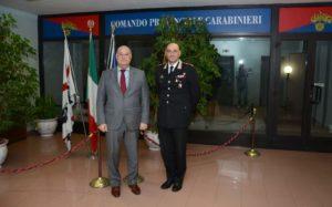 Nel pomeriggio di ieri il comandante provinciale di Cagliari, colonnello Cesario Totaro, ha ricevuto il signor prefetto di Cagliari, dottor Bruno Corda.