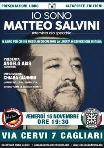 """Venerdì sera, a Cagliari, verrà presentato il libro di Chiara Giannini """"Io sono Matteo Salvini""""."""