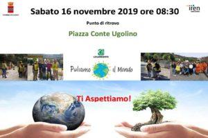 """Sabato 16 novembre la manifestazione """"Puliamo il mondo"""", organizzata da Legambiente, farà tappa a Iglesias."""