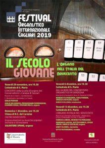 Domenica 1 dicembre la Chiesa del Carmine, a Cagliari, ospita un concerto dedicato al Novecento, nell'ambito del festival Organistico internazionale.