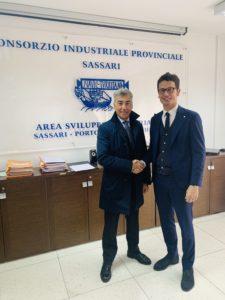 Valerio Scanu, 57 anni, è il nuovo presidente del Consorzio industriale di Sassari.
