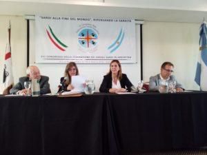 Alessandra Zedda, vicepresidente della Regione Sardegna, all'VIII congresso dei circoli dei sardi in Argentina: «Bisogna rafforzare il legame identitario con l'Isola».