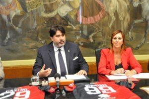 """Il governatore Christian Solinas e l'assessore del Lavoro Alessandra Zedda, stamane hanno presentato il progetto """"Casa Sardegna""""."""