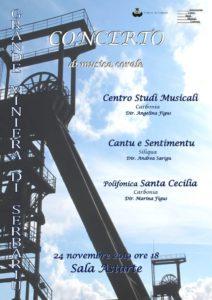 Domenica 24 novembre la Grande Miniera di Serbariu ospiterà un concetto di musica corale.