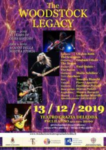 """Star internazionali a Paulilatino per lo show """"Woodstock legacy 1969-2019"""", il prossimo 13 dicembre."""