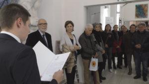 """Il grande successo della Mostra di grafica bielorussa """"Il Dialogo delle Civiltà"""" presso il Liceo Artistico Foiso Fois è l'inizio di una fruttuosa collaborazione."""