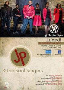 Questa sera il teatro civico di Sinnai ospita il concerto gospel di Natale con un gruppo che approda in Sardegna direttamente dagli Stati Uniti i Jp & The Soul Singers.