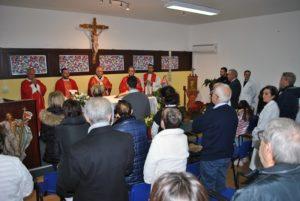 La Clinica Oculistica dell'Aou di Sassari ha celebrato Santa Lucia nella cappella del Palazzo Clemente, con l'arcivescovo di Sassari, mons. Gian Franco Saba.