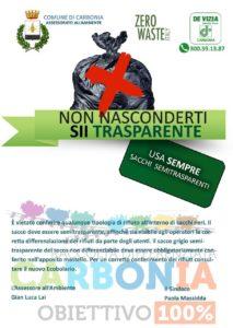 """Il comune di Carbonia lancia la campagna """"Non nasconderti, sii trasparente""""."""