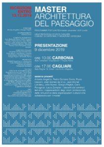 """Lunedì 9 dicembre, a Carbonia, verranno presentati i contenuti del nuovo master di secondo livello in """"Architettura del Paesaggio""""."""