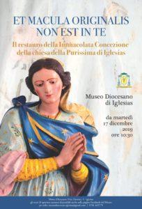 E' stato ultimato il restauro del simulacro dell'Immacolata Concezione della chiesa ex gesuitica della Purissima di Iglesias.