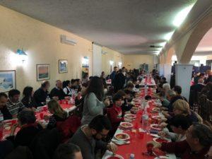 La Comunità di Sant'Egidio del Sarrabus-Gerrei ha messo a tavola oggi, per il Pranzo di Natale, duecento persone.