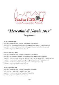 """Da venerdì 13 dicembre, a Iglesias, ritornano i """"Mercatini di Natale 2019""""."""