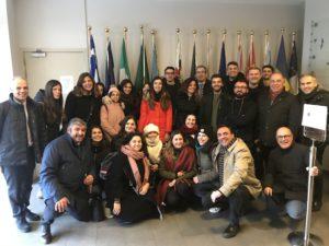 """Venti giovani laureati di altrettanti Comuni sardi, sono a Bruxelles nell'ambito del progetto Young Work and Territory in Sardinia""""."""