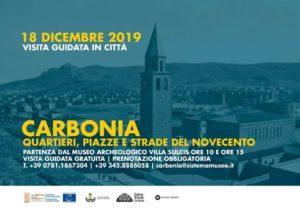 """Domani, 18 dicembre, visita guidata gratuita """"Carbonia: quartieri, piazze e strade del Novecento"""", a cura del Simuc."""