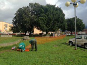 Oggi, giovedì 5 dicembre, a Iglesias, sono iniziati i lavori di manutenzione ordinaria e straordinaria della Piazza Cavallera.