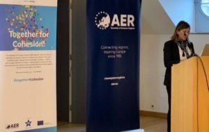 L'assessore del Lavoro Alessandra Zedda all'Assemblea delle Regioni d'Europa: «I trasporti e l'efficienza nei collegamenti tra le Regioni d'Europa saranno una delle priorità del Programma relativo alla coesione territoriale 2020».