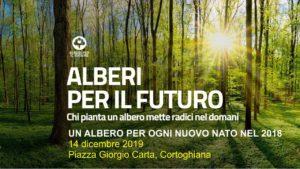 """Sabato mattina, a Cortoghiana, si svolgerà il primo dei tre eventi di """"Alberi per il futuro"""" con la piantumazione di 1 albero per ogni nuovo nato nel 2018."""