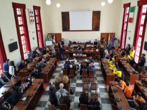 Stamane, nel giorno dell'81° compleanno della città, a Carbonia, si è svolta la cerimonia di premiazione degli studenti e degli sportivi più meritevoli.