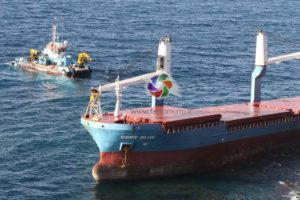 E' stata recuperata la scatola nera della Cdry Blue, la nave mercantile incagliatasi lo scorso 21 dicembre sulla scogliera di Capo Sperone, nell'Isola di Sant'Antioco.