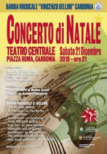 """Sabato 21 dicembre, alle 21.00, al Teatro Centrale di Carbonia si terrà il """"Concerto di Natale"""" della banda musicale Vincenzo Bellini & Matteo Scano Trio."""