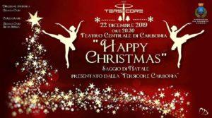 """Domenica 22 dicembre, il Teatro Centrale di Carbonia ospiterà il saggio di danza """"Happy Christmas"""" presentato dall'ASD Tersicore di Carbonia."""