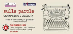 """Si terrà venerdì 6 dicembre, a Olbia, il corso di formazione per giornalisti dal titolo """"La disabilità nella comunicazione""""."""