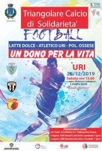 Sabato prossimo Latte Dolce, Polisportiva Ossese ed Atletico Uri si confronteranno ad Uri, in un torneo benefico promosso dalla Prometeo AITF ODV per promuovere la donazione di organi.