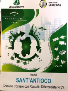 Il comune di Sant'Antioco è stato premiato nella seconda edizione dell'Ecoforum Sardegna per aver raggiunto l'81,8% nella raccolta differenziata.