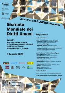 Giovedì 9 gennaio, a Sassari, il sesto ed ultimo appuntamento promosso dall'Associazione Italiana Giovani per l'UNESCO – Sardegna dedicato alla Giornata Mondiale dei Diritti Umani.