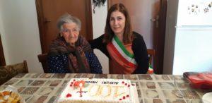 San Giovanni Suergiu ha la sua prima centenaria del 2020, Caterina Dessi, originaria di Is Urigus.