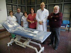 L'Emporio della solidarietà di Sassari ha donato un nuovo lettino all'Aou per le visite in Pediatria