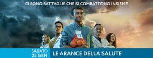 """Sabato 25 gennaio gli studenti della Scuola primaria Ciusa, a Carbonia, distribuiranno """"Le arance della salute""""."""