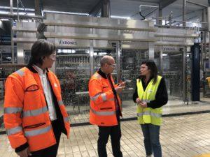 L'assessore dell'Industria Anita Pili ha visitato lo stabilimento Heineken di Macchiareddu.