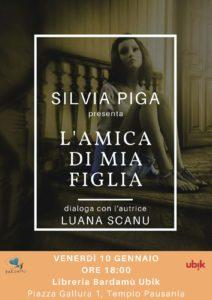 """Venerdì 10 gennaio, a Tempio Pausania, la scrittrice sarda Silvia Piga presenterà il suo nuovo libro dal titolo """"L'amica di mia figlia. Dal diario di un'anoressica"""", pubblicato dalla CSA Editrice."""