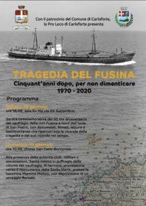Il 18 e 19 gennaio Carloforte ricorda la tragedia del Fusina, cinquant'anni dopo, per non dimenticare. 1970-2020.