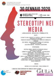 """Il 30 gennaio, a Cagliari, si terrà il corso di formazione per i giornalisti """"Stereotipi nei media"""""""