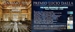 Ci sarà anche il duo Davide Mocci-Cristina Scalas, a Sanremo, alla 4ª Vetrina del Premio Lucio Dalla.