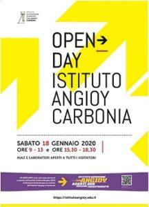 """Sabato 18 gennaio, 2° Open Day all'Istituto di Istruzione Superiore""""G.M. Angioy"""" di Carbonia."""