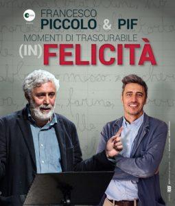 Al Teatro Massimo di Cagliari i Momenti di trascurabile (in)felicità di Francesco Piccolo e Pif.
