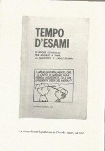 """La """"Piccola collana di memorie"""" ripubblica """"TEMPO D'ESAMI"""" di Manlio Brigaglia."""