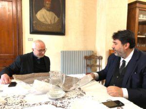 Il presidente della Regione, Christian Solinas, ha incontrato questa mattina monsignor Giuseppe Baturi, alla vigilia della sua ordinazione ad arcivescovo di Cagliari.
