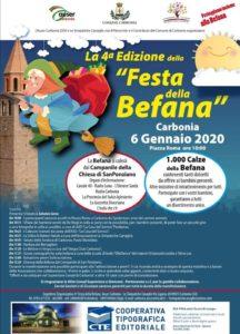 """Lunedì 6 gennaio, a partire dalle ore 10.00, in piazza Roma, a Carbonia, si terrà la quarta edizione della """"Festa della Befana""""."""