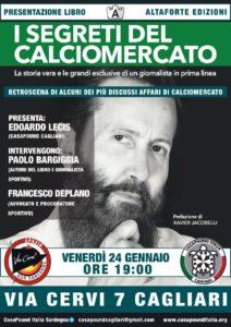 """Venerdì 24 gennaio verrà presentato a Cagliari il libro """"I segreti del calciomercato"""""""