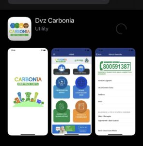 "L'App denominata ""De Vizia Carbonia"" è attiva anche per i dispositivi IOS (Iphone e Ipad)"