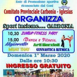 """Domenica 1° marzo va in scena il 10° """"Sport insieme…Carbonia"""" organizzato dal MSP Italia"""