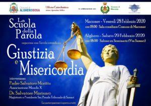 """Tavola rotonda su """"Giustizia e Misericordia"""", venerdì 28 febbraio, a Macomer"""